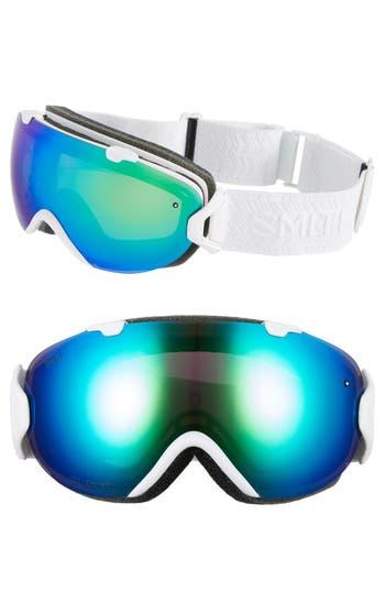 Women's Smith 'I/os' 190Mm Snow Goggles - White Eclipse/ Chromapop Sun