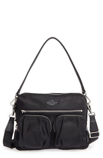 Mz Wallace 'Small Roxy' Bedford Nylon Shoulder Bag - Black