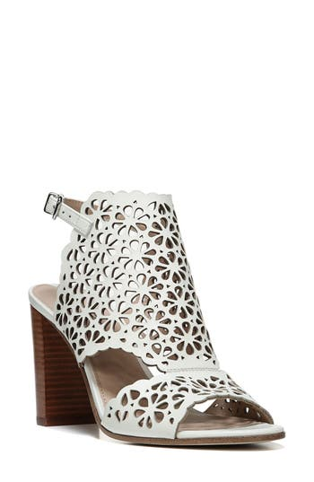 Via Spiga Garnet Perforated Ankle Strap Sandal- White