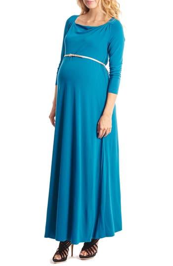 Everly Grey Zelena Maternity Maxi Dress, Blue