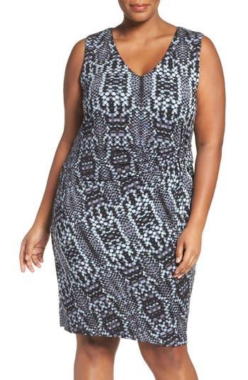 Plus Size Tart Margaux Twist Front Sheath Dress, Black