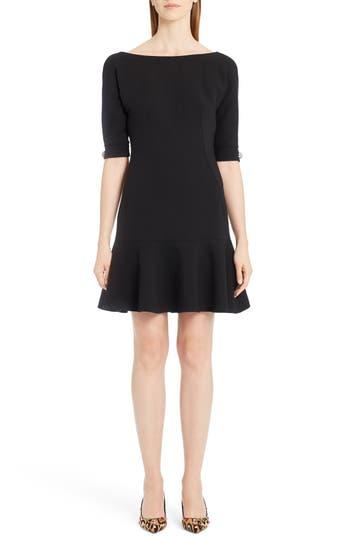 Dolce & gabbana Stretch Wool Fit & Flare Dress
