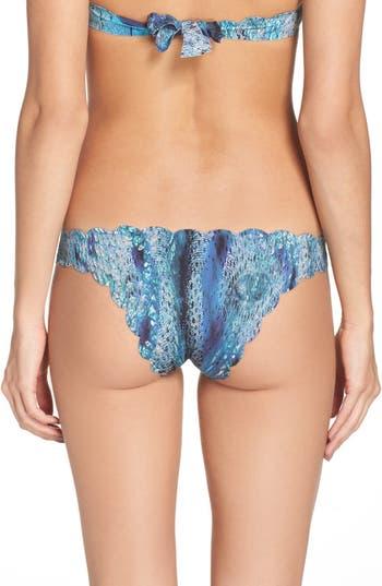 Pilyq Seamless Reversible Bikini Bottoms, Blue