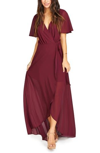 Women's Show Me Your Mumu Sophia Wrap Dress, Size Medium - Red