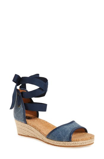 Women's Ugg Amell Ankle Wrap Sandal, Size 5.5 M - Blue
