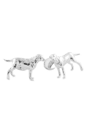 David Donahue 'Labrador' Sterling Silver Cuff Links