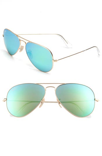 Ray-Ban Standard Original 5m Aviator Sunglasses - Green Flash
