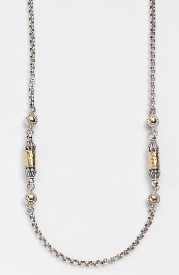 Women's Konstantino 'Classics' Two-Tone Hammered Station Necklace
