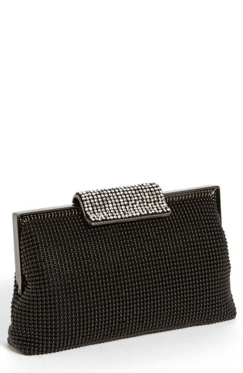 Whiting & Davis Crystal Frame Clutch - Black at NORDSTROM.com