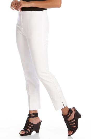 Karen Kane Stretch Woven Capri Pants, White