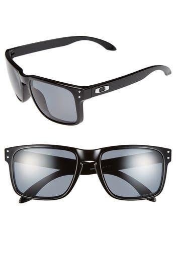 Men's Oakley 'Holbrook' 55Mm Polarized Sunglasses - Polished Black