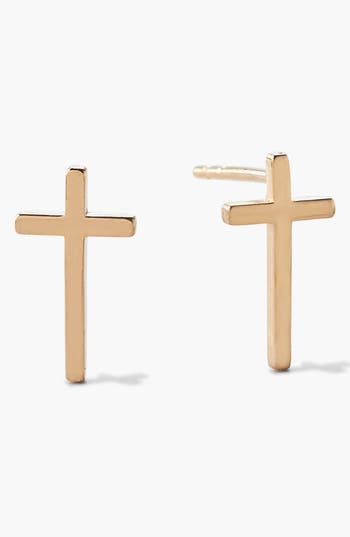 Alex and Ani 'Symbolic' Cross Stud Earrings