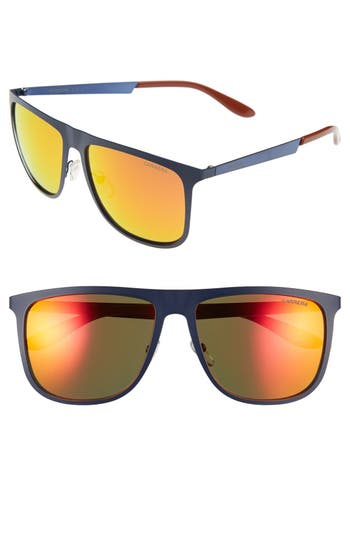 Men's Carrera Eyewear 58Mm Mirrored Retro Sunglasses -