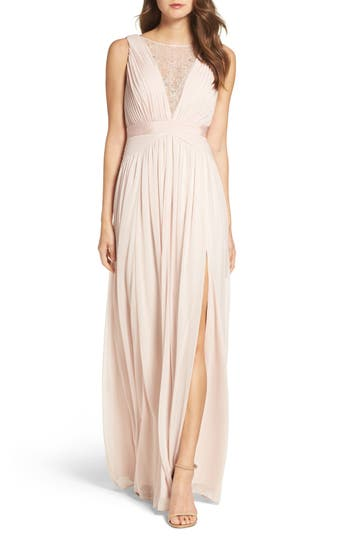 Women's Adrianna Papell Tulle & Lace Gown