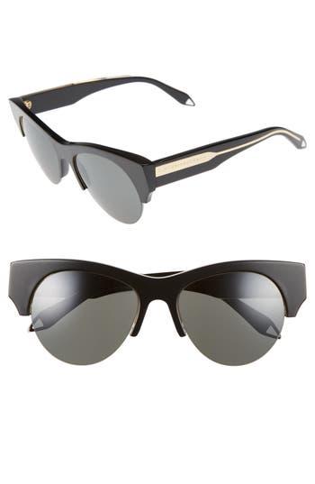 Victoria Beckham 5m Retro Sunglasses - Black/ Black Mirror