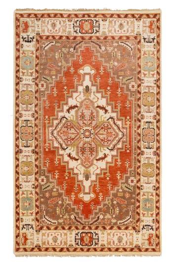 Surya Home Zeus Global Wool Rug, Size Swatch - Metallic