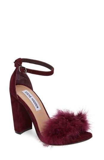 Women's Steve Madden Carabu Sandal, Size 6 M - Burgundy