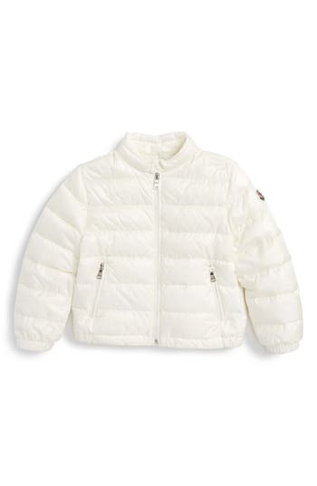 Infant Moncler Acorus Channel Quilted Down Moto Jacket