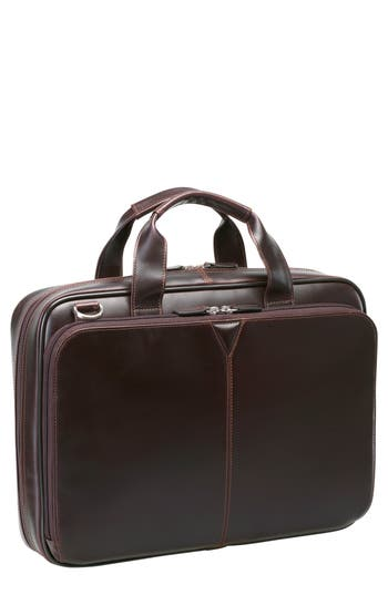 Johnston & Murphy Leather Briefcase - Brown