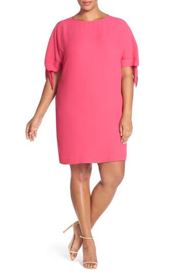 Plus Size Vince Camuto Cold Shoulder Shift Dress, Pink