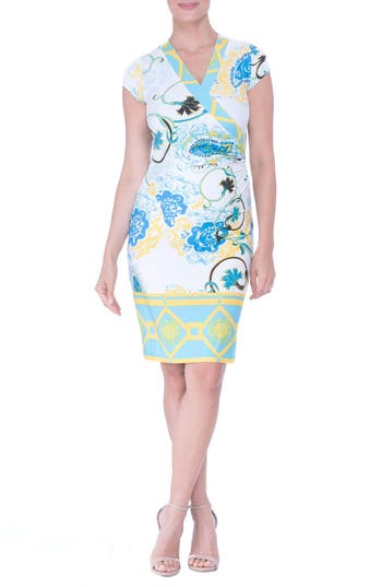 Olian Faux Wrap Maternity Dress