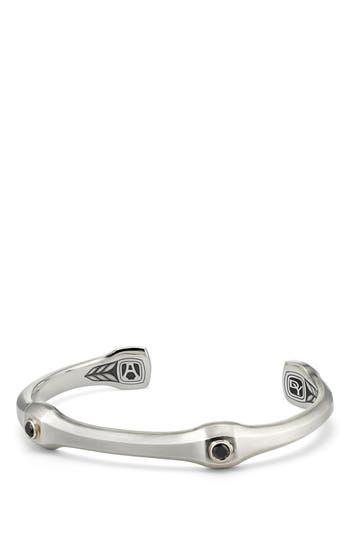David Yurman Anvil Cuff Bracelet with Black Diamond, 10.5mm