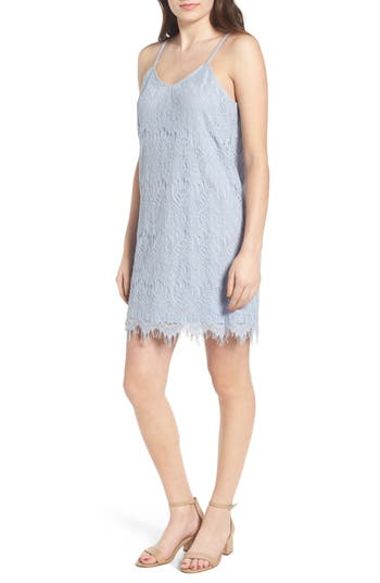 Love, Fire Lace Slipdress, Blue