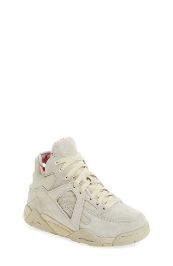 Boys Fila The Cage High Top Sneaker Size 4.5 M  Ivory
