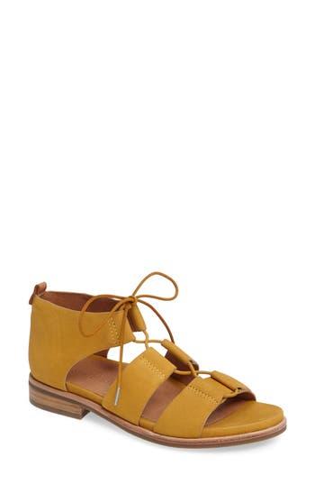 Gentle Souls Fina Lace-Up Sandal, Yellow