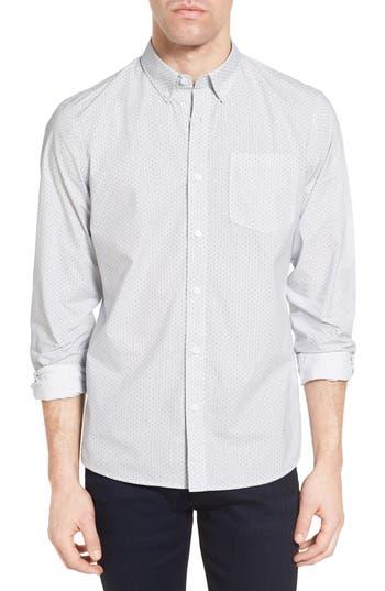 Men's Nordstrom Men's Shop Slim Fit Print Sport Shirt