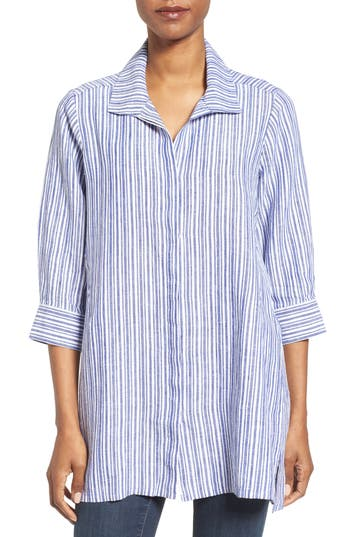 Foxcroft Stripe Linen Tunic