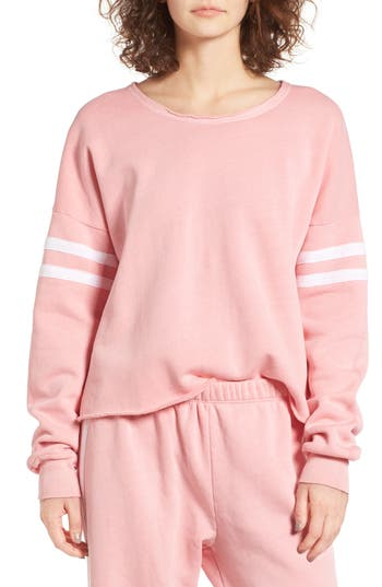 Women's Wildfox 5Am Varsity Stripe Sweatshirt