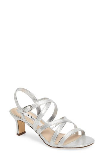 Nina Genaya Strappy Evening Sandal, Metallic