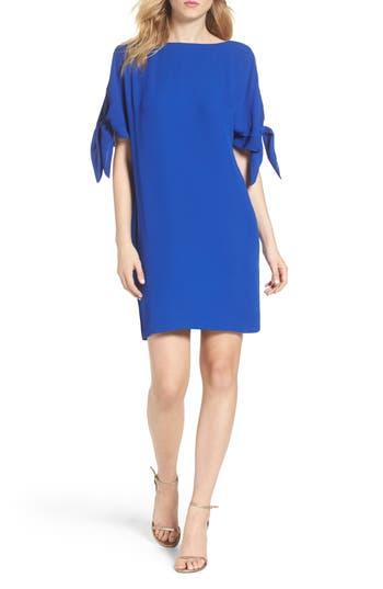 Vince Camuto Cold Shoulder Shift Dress, Blue