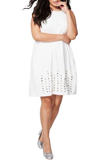 Plus Size Rachel Rachel Roy Embellsihed Shift Dress, Ivory