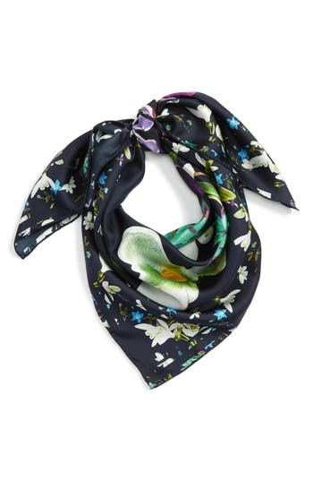 Women's Ted Baker London Evella Entangled Enchantment Square Silk Scarf