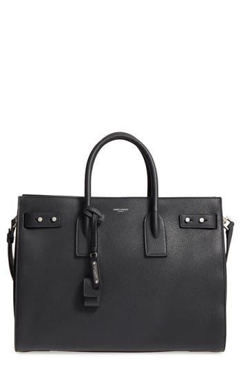 Saint Laurent Medium Sac De Jour Grained Leather Tote -