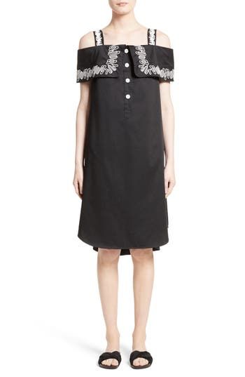 Opening Ceremony Embroidered Off The Shoulder Dress