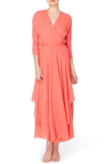 Catherine Catherine Malandrino Larissa Chiffon Maxi Dress, Pink