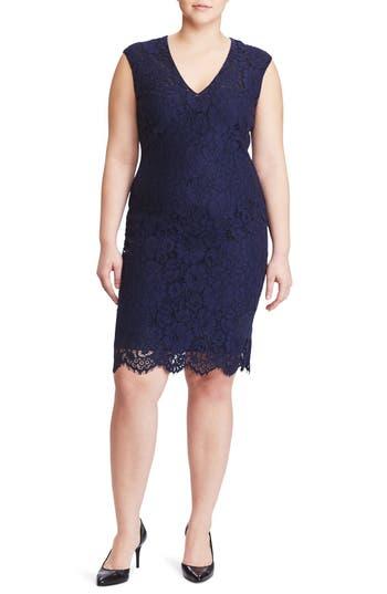 Plus Size Women's Lauren Ralph Lauren Lace Sheath Dress