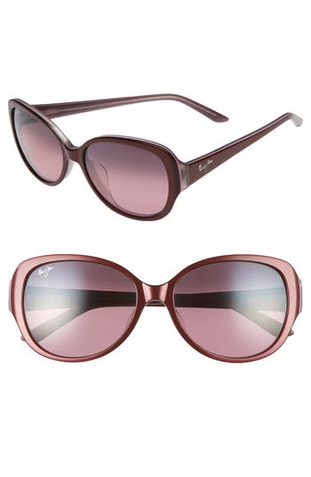 Maui Jim Swept Away 5m Polarizedplus2 Sunglasses - Ruby/ Mauve/ Maui Rose
