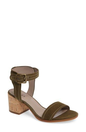Women's Hinge Dylan Block Heel Sandal, Size 6 M - Green