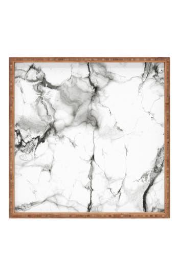 Deny Designs Marble Square Tray, x16 - Grey