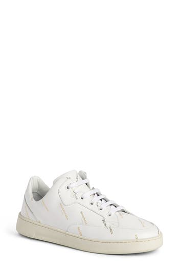 Balenciaga Logo Low Top Sneaker, White