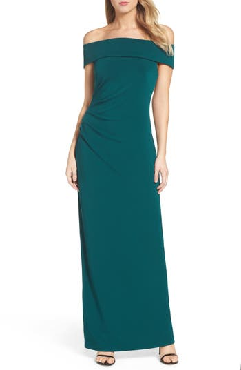 Vince Camuto Off The Shoulder Gown, Green