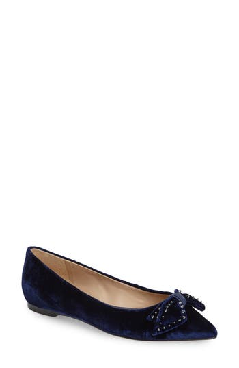 Women's Sam Edelman Raisa Bow Flat, Size 7 M - Blue