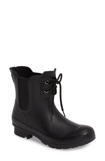 Roma Waterproof Chelsea Rain Boot, Black