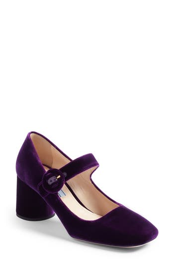 Women's Prada Block Heel Mary Jane Pump