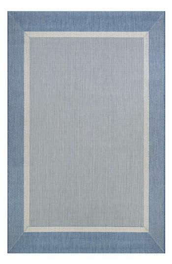 Couristan Stria Texture Indoor/outdoor Rug, ft 0in x 3ft 7in - Blue
