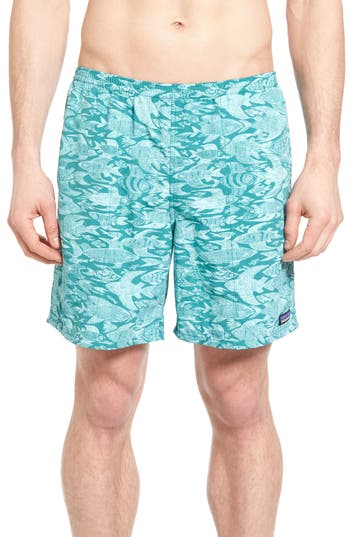 Patagonia Baggies Longs Swim Trunks, Green